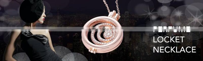 Round silver/rose gold/gold stainless steel locket perfume diffuser necklace /Aromatherapy necklace