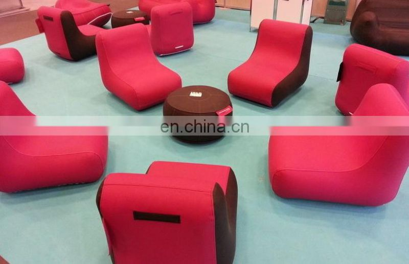 Inflatable Single L Shaped Sofa With Cloth Cover