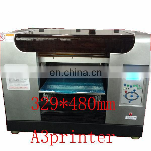 Hot sale flat bed printing machine A1 size direct printing Eight colors, print on any hard materials
