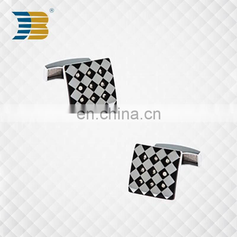 Direct Sale Black Custom Fashion Metal Cufflinks