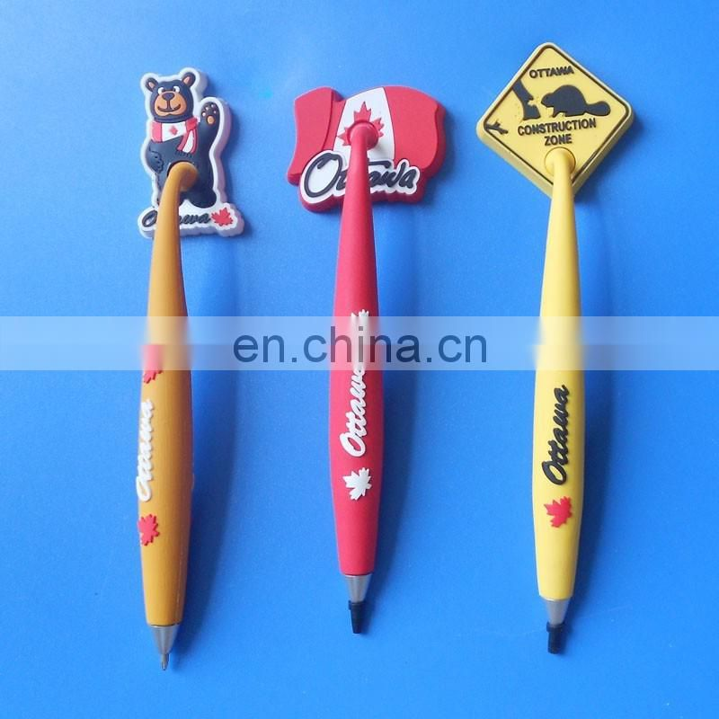custom Iraq rubber fridge magnet ball pen for promotion