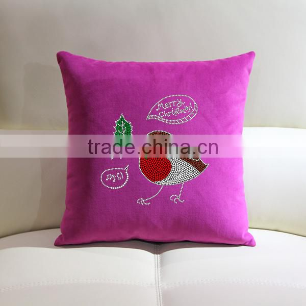 Cool fashionable throw pillow rhinestone motif wholesale