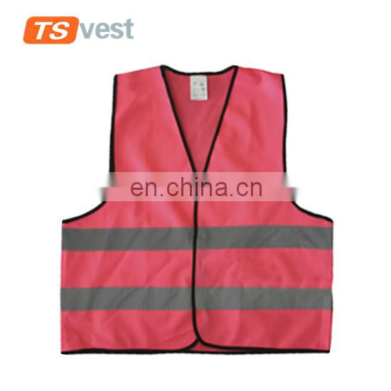 Pink color women safety vest for running or cycling