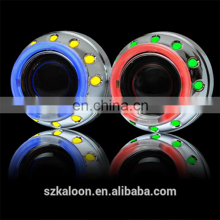 car bixenon lens projector with double CCFL angel eye