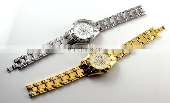 Low MOQ Quartz Stainless Steel Back Watch