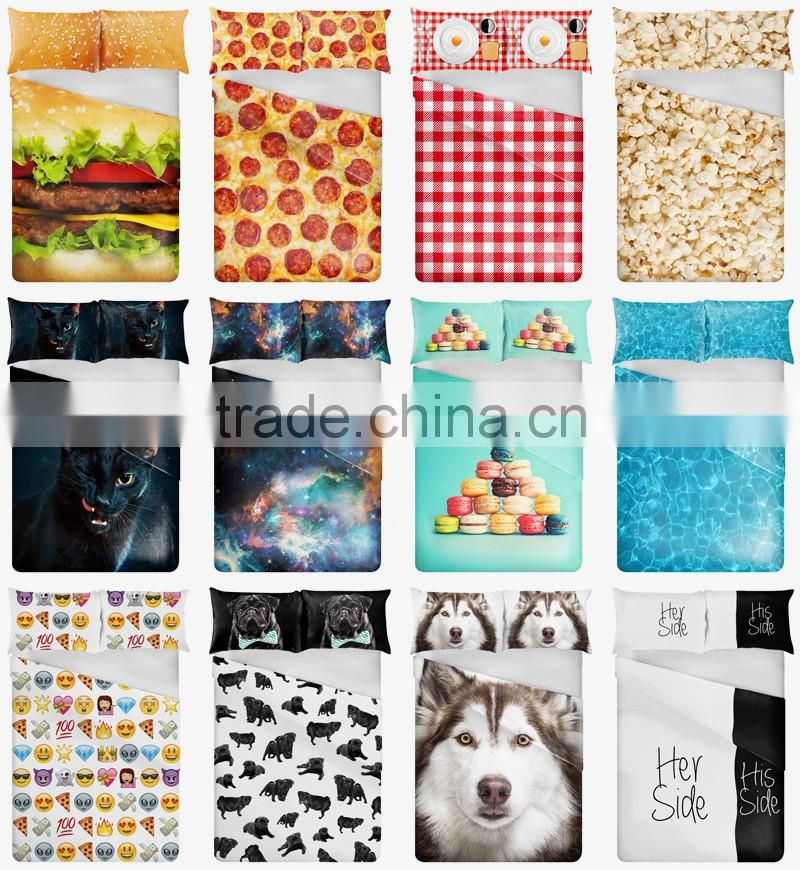 Wholesale 3D print bedding sets soft home textile four season collection colorful print funny animal children printing