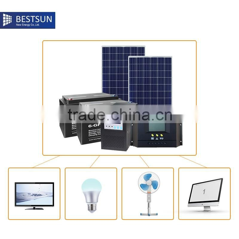 without electrical lighting system 500w USB putout chargersolar energy outdoor solar energy system