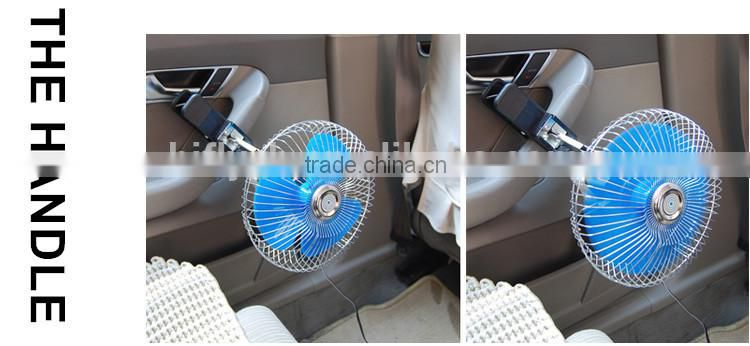 6 inch Car Fan 17W Radiator Fan Motor 12v/24V Car Mini Car Fan With CE Certificate Cigarette Plug Factory Direct sale
