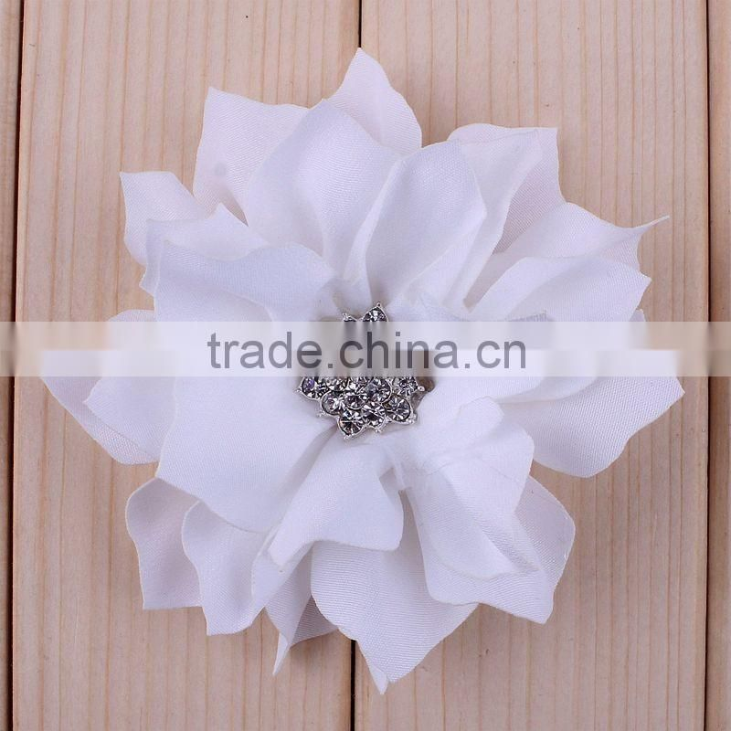 "13colors,NEW 3.5"" Fabric Flowers DIY Flowers Garment Flowers For Children Baby Girls Boutique Hair Accessories,YDKM18"