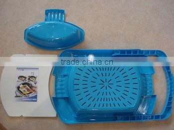 Over The Sink 3 In 1 Kitchen Sink Cutting Board Removable Chopping Blocks with Drain Basket Shelf