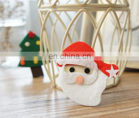 Baby Christmas Hair Clippie With Santa Toddler Hair Clip Ribbon Hair Clips For Baby Girl