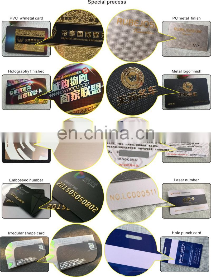 Large Capacity High Tech Rfid Business Card With Wechat Qr Code, Plastic Business Card Made In China