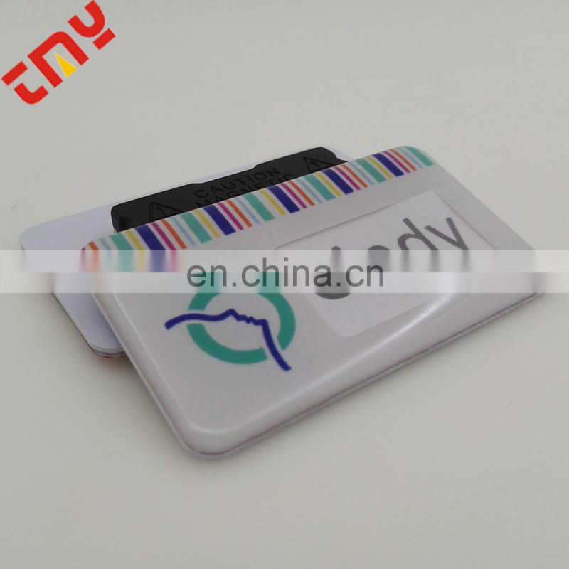 Custom High Quality Programmable Led Name Badge For Company