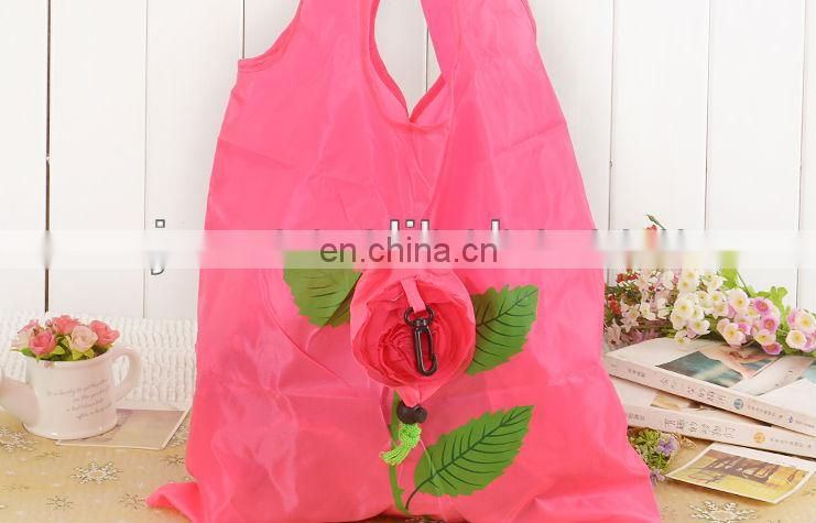 2012 new design lovely nylon foldable shopping bag