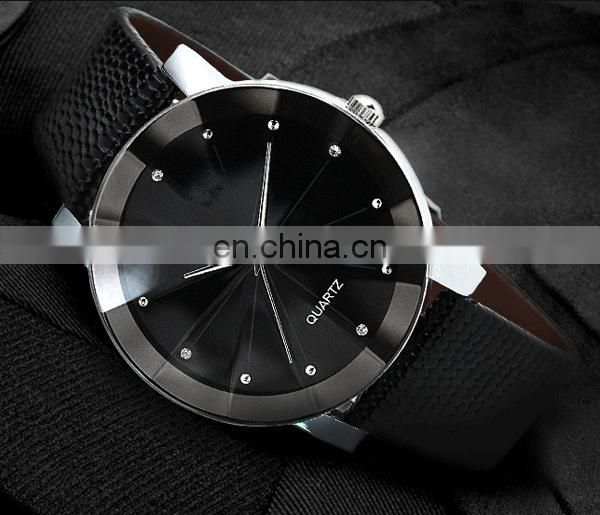 Wholesale factory leather watch cheap wrist watch couple watch