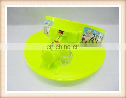 hot sell summer outdoor toy electic plastic hat fan