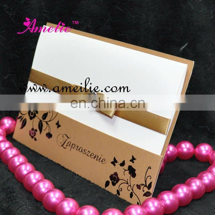 AW141 Wholesale Handmade Wedding Invitation Card