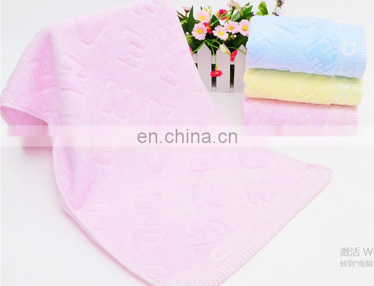Hot sale thickening jacquard letters cotton face towel