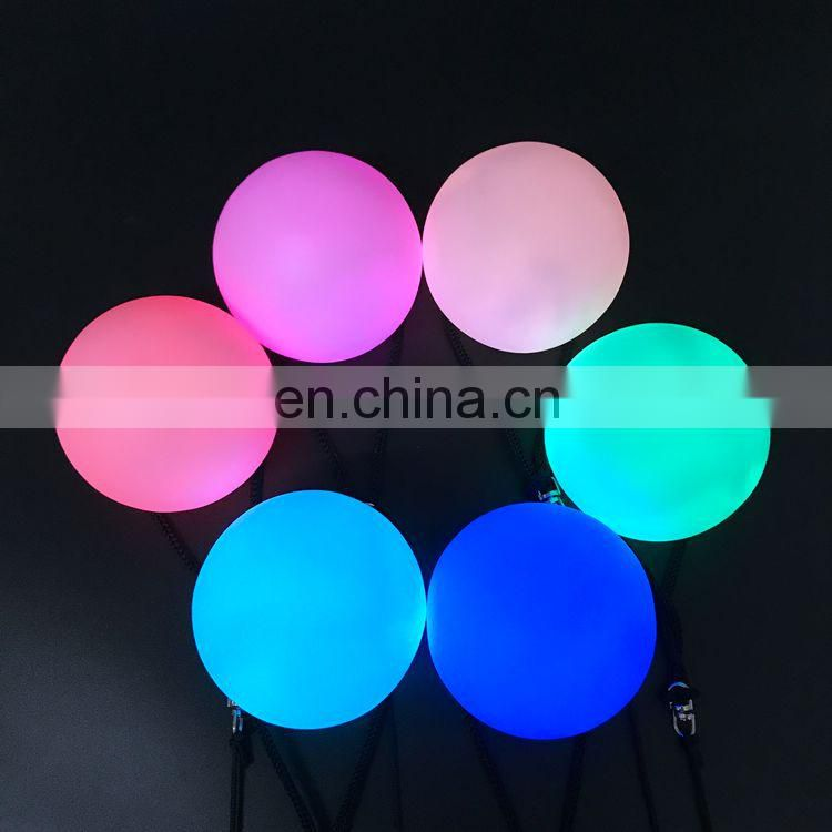 Factory price fantastic colorful dance customized LED poi ball