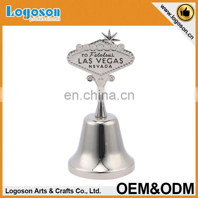 Custom high quality zinc alloy antique metal jingle small antique souvenir dinner bells
