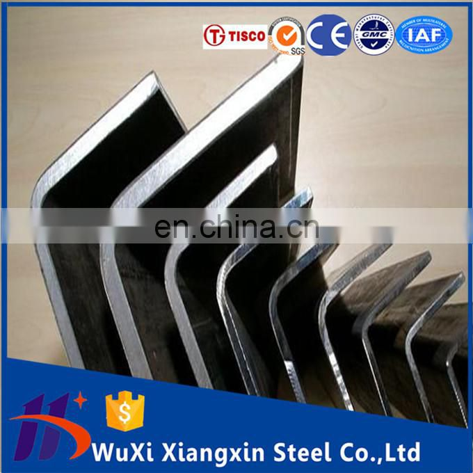 standard sizes 201 310s stainless steel angle weight