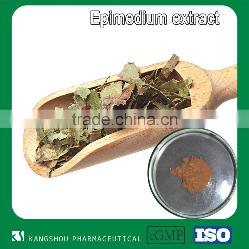Chinese herbal medicine men health enhancement sex product icariin Epimedium extract