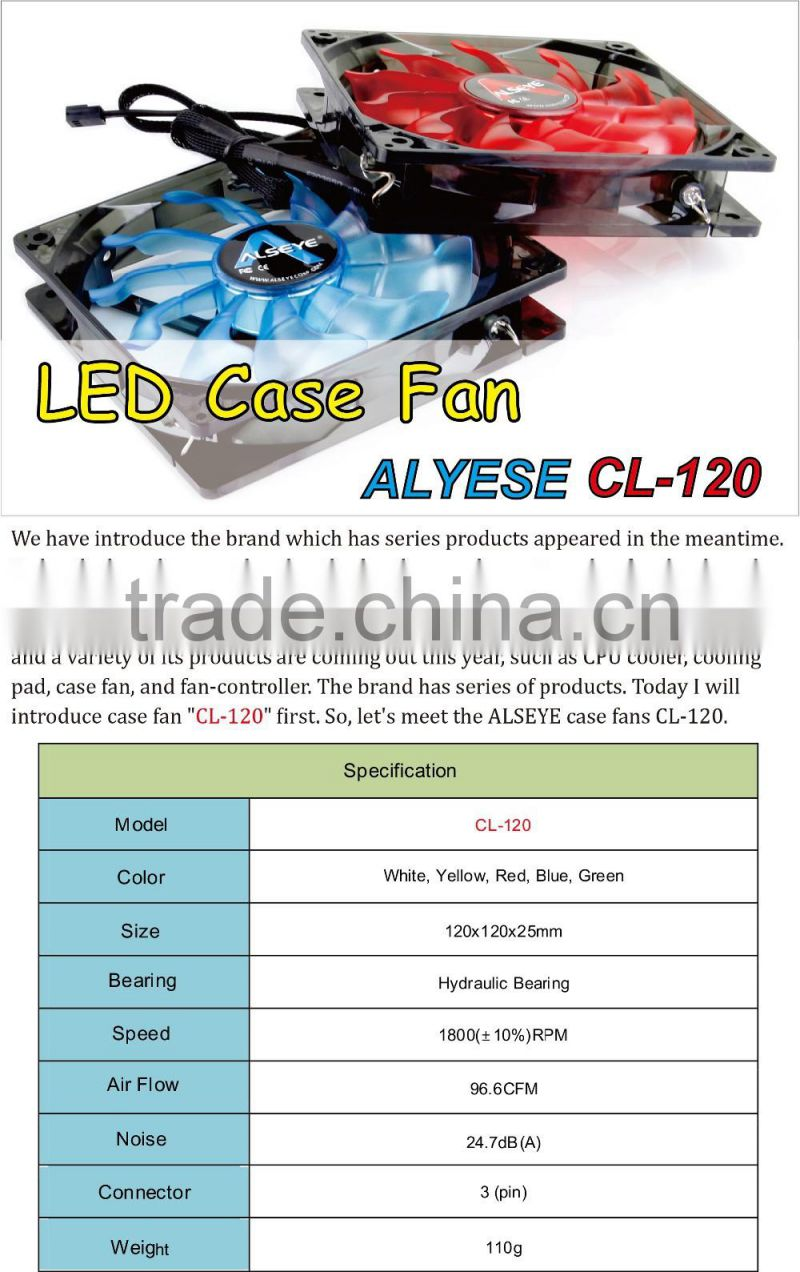 Alseye Cl 120b 220v Feature Comforts Axial Silent Fan Of New Casing 12cm