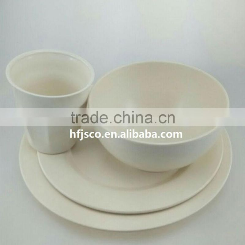Pretty design No pollution Hot design bamboo fiber tableware set