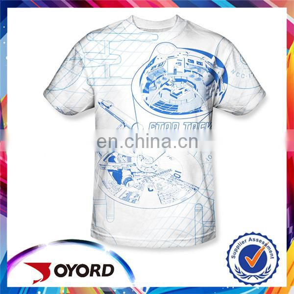long sleeve T-shirts 100% polyester amazing pattern oem design t shirt