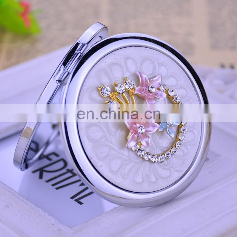 yiwu wholesale jeweled gifts dual cosmetic mirror