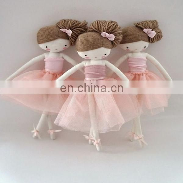 Ballerina rag doll blond hair , cloth doll Sunday in color