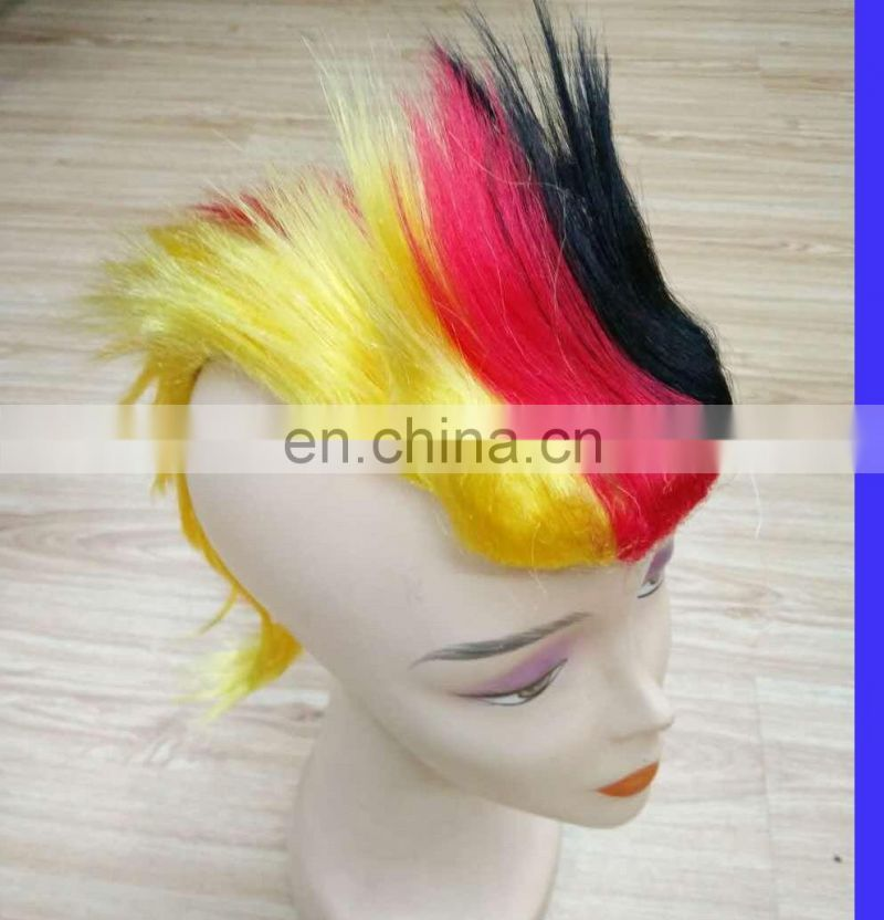 Football fans wig clip on headbnd for 2018 world cup Russian football game