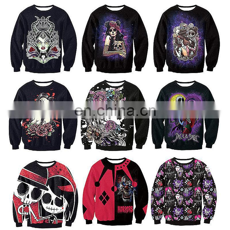 Halloween Costume Jumper Cool Skull Tank Top Bodysuit Gothic Hoody Sweatshirt and Skeleton Leggings Wholesale Adults Clothing