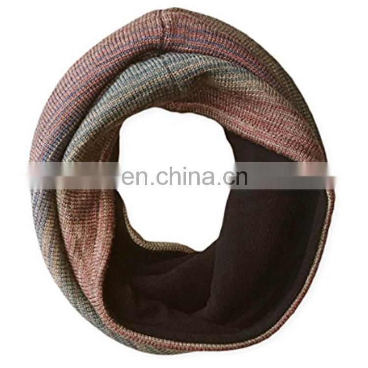 2017 Custom Logo Printing Winter Knitted Neck Warmer/Tube scarf