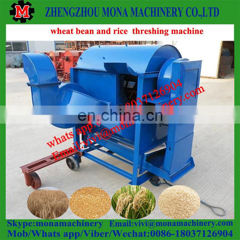 small Mobile grains thresher rice thresher with wheels for mini thresher machine Image
