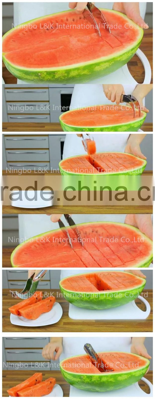 High quality stainless steel watermelon slicer corer, watermelon cutter