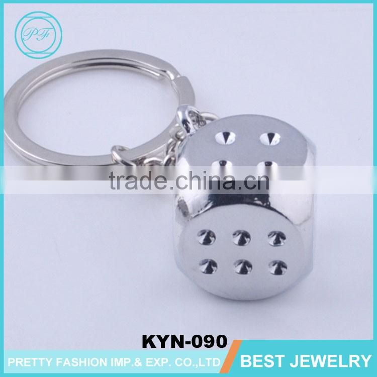 Creative Metal Key Ring Dice Pendant Creative Personalized Keychain Models Small Gifts Keychain Manufacturers In China