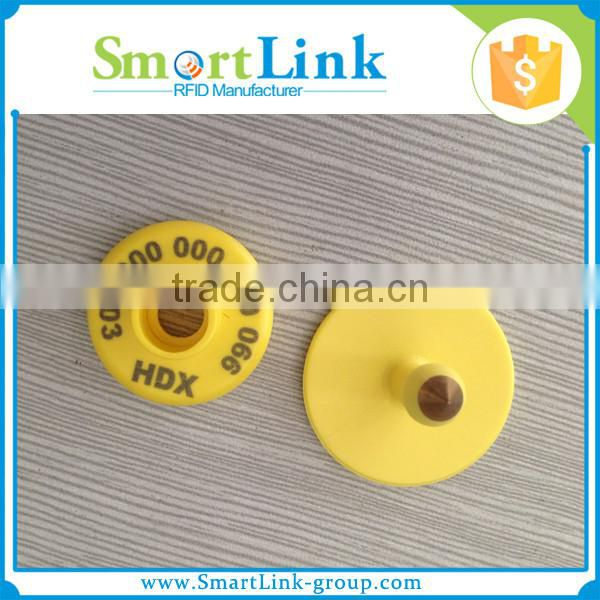 RFID tracking device for cattles,134.2khz sheep ear tag ,Plastic Material animal ear tag transponder
