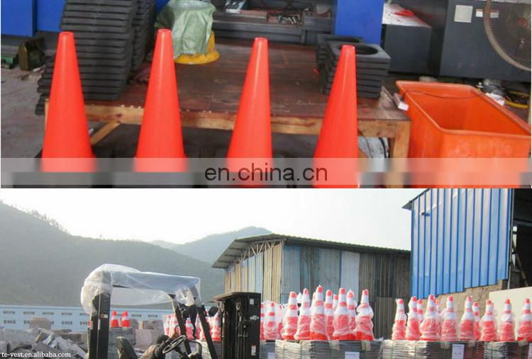 PE,EVA,PVC reflective traffic cone + detachable flexible cone bar