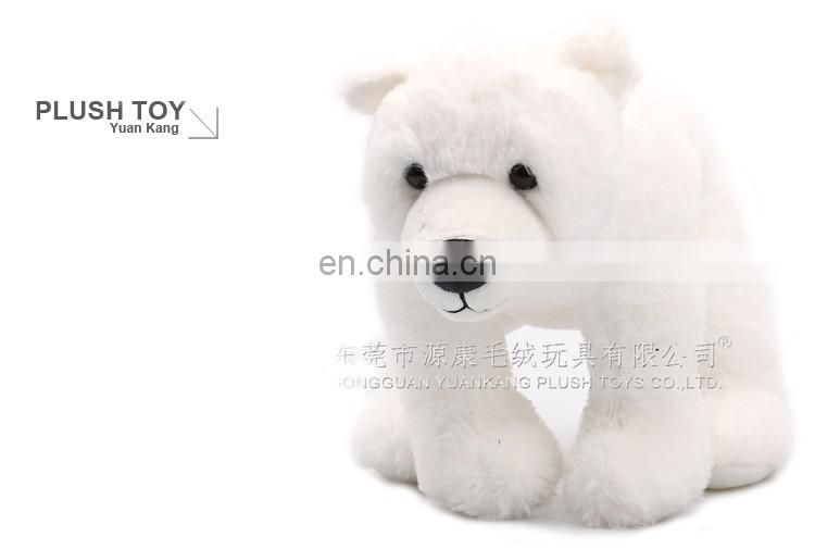 Super soft plush material little white bear polar teddy