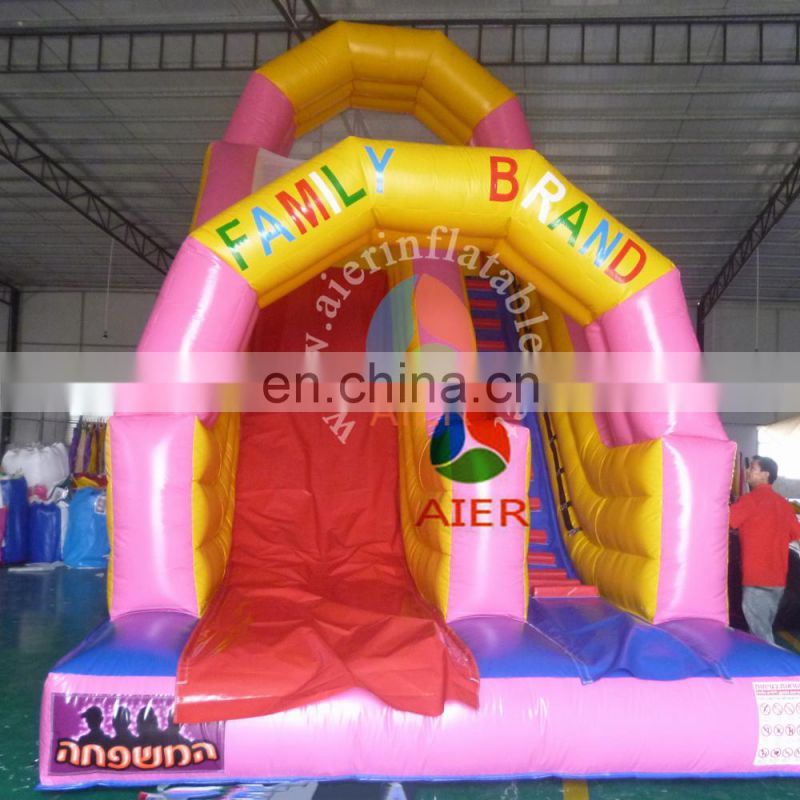 promotional price inflatable slide / pink mini inflatable dry slide / indoor slide inflatable toys for kid