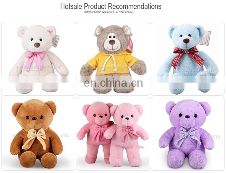 Wholesale pink valentines soft toy teddy bears with heart