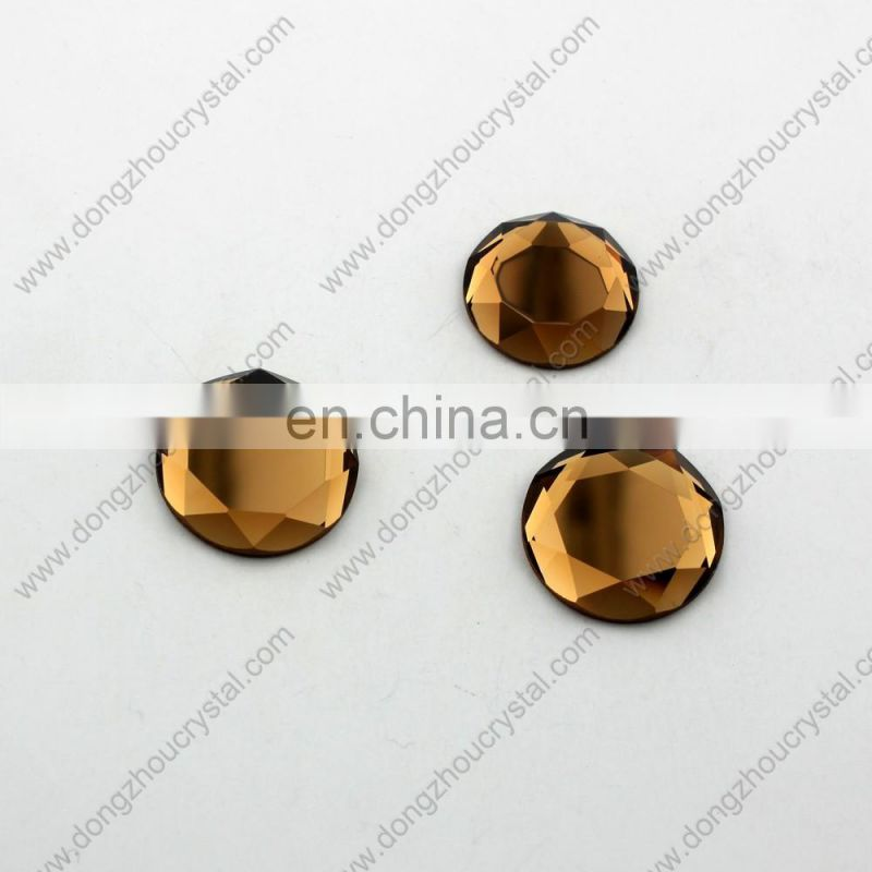 round Crystal glass stones with special cutting for garment accessories
