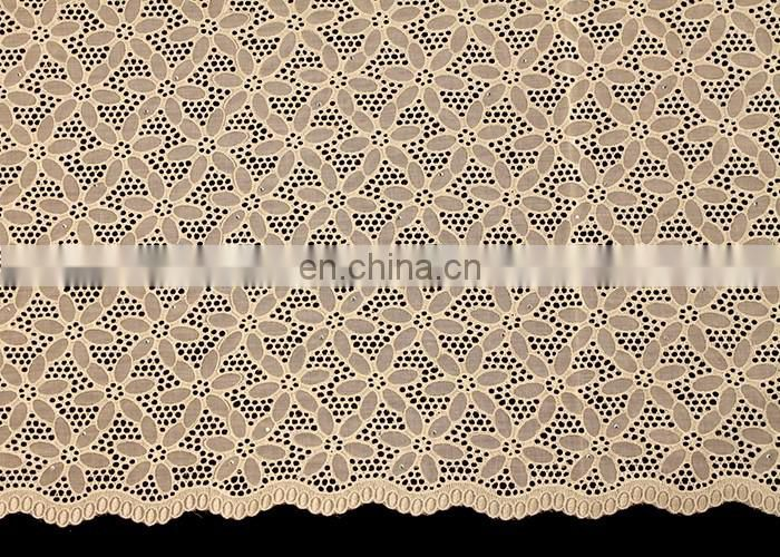 hot selling Swiss cotton lace with small stones for party or wedding
