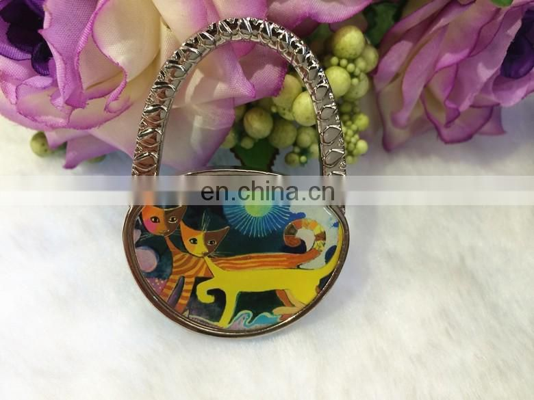 Cat print foldable purse bag hanger in bulk