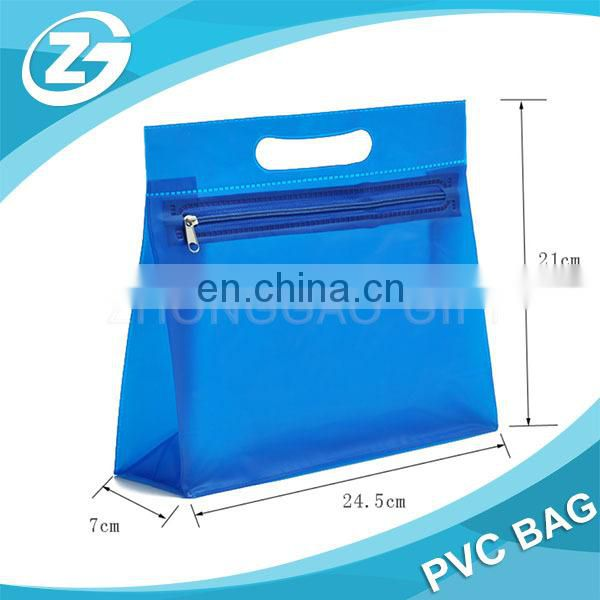 Custom Stand Document Disposable Matt PVC Bag