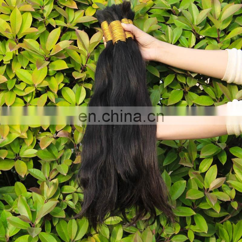 8A 10-40inch Brazlian Virgin Hair Straight Human Hair Bulk No Weft Bulk For Braiding Peerless Virgin Hair Natural undye Color