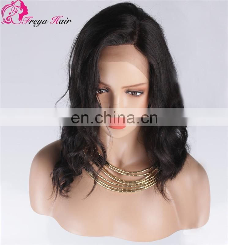 Freya hair hot sale 100% human indian remy hair 130% density 10-26 inch front lace wig