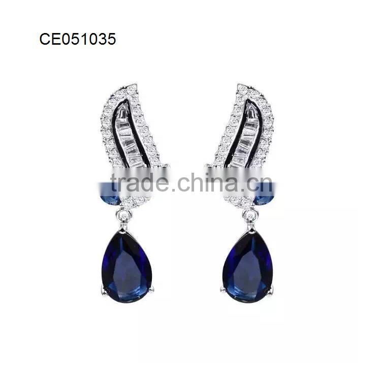 fashion silver earring imitation jewelry china factory