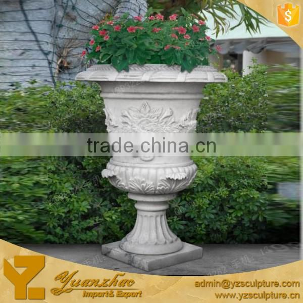 Classical decorative garden marble flower pot for sale